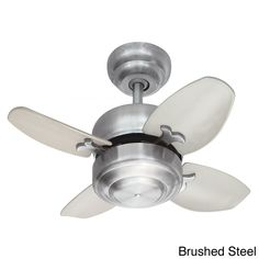 Small but powerful, the mini 20-inch ceiling fan features a powerful motor for optimum performance with whisper-quite operation. Complete with 12-degree pitched blades designed for exceptional air flow, this fan comes in three finish options.