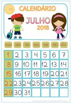 Calendário JULHO 2018