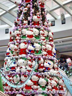 Hello Kitty Christmas Tree http://www.kittyhell.com/wp-content/uploads/2007/12/hello-kitty-xmas-tree.jpg Hello Kitty Christmas Tree, Cool Christmas Trees, All Things Christmas, Christmas Love, Christmas Holidays, Christmas Decorations, Xmas Tree, Christmas Crafs, Merry Christmas