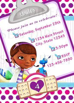 Cute Doc Mcstuffins Digital Birthday Party Invitations. $9.99, via Etsy.