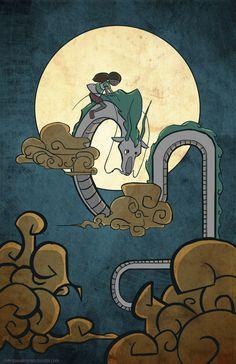 Spirited Away Studio Ghibli Hayao Miyazaki, Studio Ghibli Art, Studio Ghibli Movies, Spirited Away Poster, Le Vent Se Leve, Dragons, Chibi, Chihiro Y Haku, Mega Sena