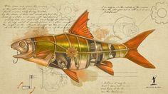 #Steampunk Tendencies | Steampunk Animal Wallpapers - Fish
