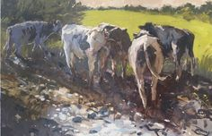 Mud bath x SOLD My exhibition in Putney with Paul Curtis NEAC is finished now but was a great success. Mud Bath, Urban Painting, Art Terms, Animal 2, Cow, Moose Art, Painters, Gallery, Artist