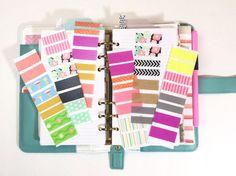 Spring and Summer Washi Tape Sticker Sampler - Choose from 6 bright designs - floral, stripe, chevron, gold, polka dot, mint, pink, mushroom