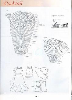 Diagrammes gratuits robe de Barbie Crochet Doll Pattern, Crochet Dolls, Crochet Baby, Knit Crochet, Crochet Patterns, Crochet Barbie Clothes, Doll Clothes, Habit Barbie, Japanese Patterns