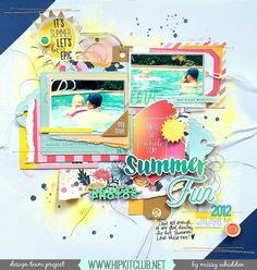 Hip Kit Club DT Project - 2015 June Hip Kits - by Missy Whidden - Fancy Pants, Crate Paper, Evalicious, American Crafts, exclusive Project Life cards, Avery Elle inks