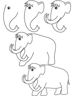 drawing mammoth