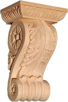 Arlington hardwood corbel with traditional acanthus leaf carved from wood $110.00 only 8 inches