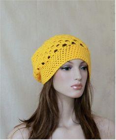 Summer Crochet Hat Crochet Beret  Slouch Beanie by endlesscreation, $24.90