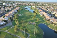 Homes along the golf course in Chandler, AZ