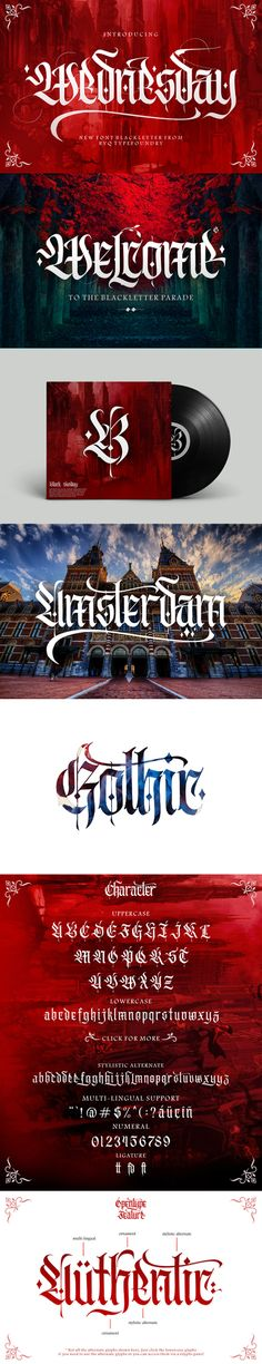 #Wednesday - Decorative #Fonts Download here: https://graphicriver.net/item/wednesday/19551635?ref=alena994
