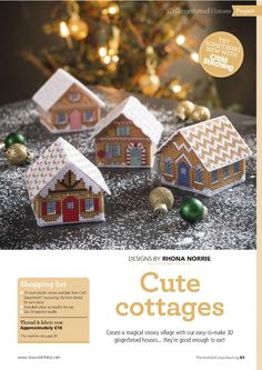 Cute Cottages 1 of 6     They are Cross Stitch on Plastic Canvas