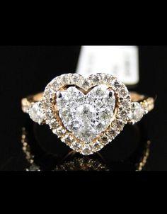 14 k engagement ring Heart Diamond Engagement Ring, Heart Wedding Rings, Diamond Heart, Diamond Rings, Heart Ring, Gold Heart, Ring Engagement, Heart Shaped Rings, Fashion Rings