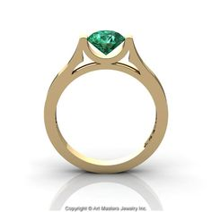 Modern 14K Yellow Gold Designer Wedding Ring or by DesignMasters, $299.00