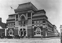 Pennsylvania Academy of the Fine Arts, 1876.The building, designed by the Philadelphia firm of Frank Furness and George Hewitt, is generally considered to be primarily the work of Furness, who finished the project after the partnership dissolved in 1875. Furness had been a pupil of Richard Morris Hunt.  Photo by Frederick Gutekunst.