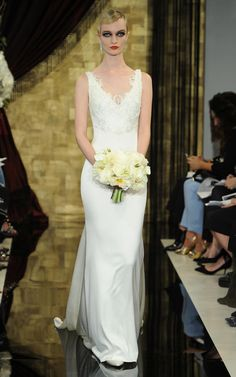 Theia's Dramatic Fall 2016 Wedding Dresses Take Us Back to the 1920s | https://www.theknot.com/content/theia-wedding-dresses-bridal-fashion-week-fall-2016