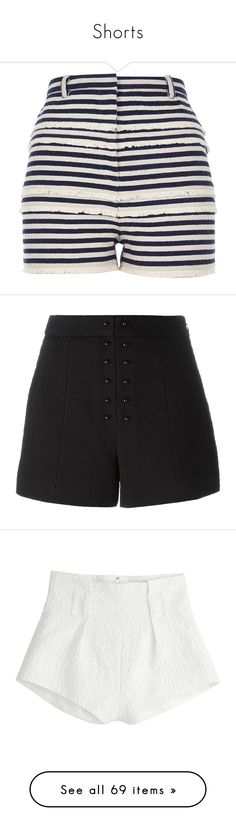 """""""Shorts"""" by crazysoshi ❤ liked on Polyvore featuring shorts, bottoms, sale, high-rise shorts, navy high waisted shorts, striped shorts, river island, navy blue high waisted shorts, black and high waisted shorts"""