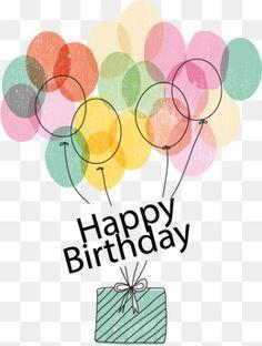 Vector Happy Birthday Balloons