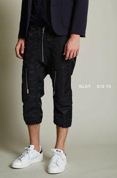 NLST l Nylon Flight Shorts #NLST #SS15 #NAVY #menswear