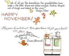 Happy November by Susan Branch