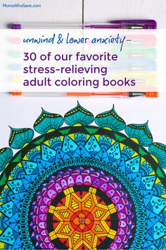 Could you use a little stress-relief? One way to unwind is by coloring. Adult coloring books aren't just for fun--they're a terrific way to unplug, lower anxiety Adult Coloring, Coloring Books, Coloring Pages, Crayola Colored Pencils, Positive Art, Relaxing Colors, Stained Glass Flowers, Kawaii Doodles, Health And Fitness Articles
