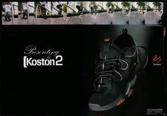 ES KOSTON AD CIRCA 1998 Eric Koston, Swag Swag, Advertising, Ads, Unique Shoes, Skate Shoes, Me Too Shoes, All Black Sneakers, Skateboard