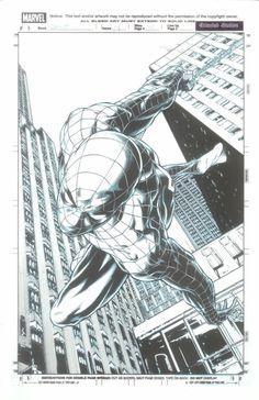 Spider-Man by Joe Quesada * - Art Vault Comics Spiderman, Spiderman Kunst, Spiderman Drawing, Marvel Comics Art, Manga Comics, Marvel Heroes, Batman, Comic Book Pages, Comic Books Art