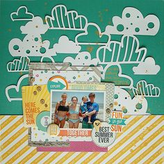 #papercraft #scrapbook #layout. Amy Coose for Chic Tags