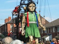 Giant girl visits liverpool