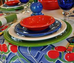 We use Fiestaware when we are eating out by our pool. It holds it's heat when you put grilled meats & veggies on it & looks festive. We love all of our Fiestaware!