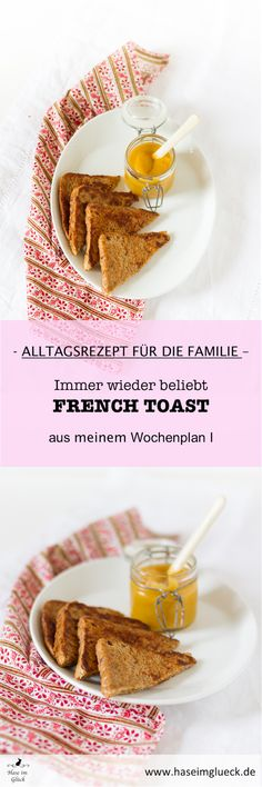 French Toast --- Wenn es mal schnell gehen muss... man braucht nur Toast, ein Ei und etwas Milch, mehr nicht! ---  ♥ Foodblog haseimglueck.de ♥ #rezept #recipe #foodblog #frenchtoast #breakfast #toast Delicious Breakfast Recipes, Breakfast Time, Food Blogs, Planer, French Toast, Yummy Breakfast Ideas, Brunch Recipes, Milk, Egg As Food