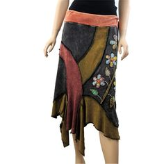 Rising International Skirt Cotton Nepal Clothing Floral Daisy Multi Colored | eBay