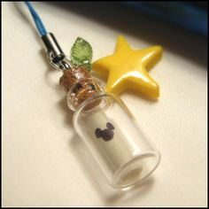 """Kingdom Hearts """"Message From A King"""" with a Paopu Fruit!! It's a cell phone charm! I love these little things!!"""