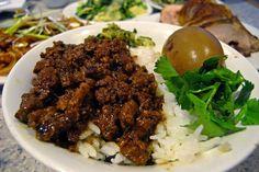 Stewed ground pork on rice 魯肉飯 by tu_jeff on Flickr.