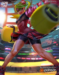 Riboon Girl / Arms nintendo switch by logancure