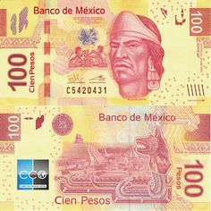Mexico 100 Pesos Banknote, UNC, Series-BE, Nezahualcoyotl, Coyote Money Bill, Silver Certificate, How To Get Rich, Coin Collecting, Images Gif, Central America, Postage Stamps, The 100, We The People