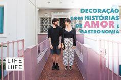 Decoração com história de amor e gastronomia em prédio antigo
