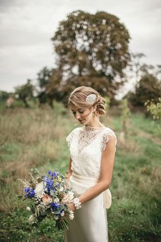 A Sweet September Wedding With A Touch of 1930's Glamour, Pom Poms, Peach, Gold…