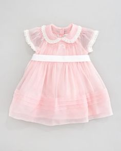 Ralph Lauren Childrenswear Smocked Silk Dress, Pink Patina | Bergdorf Goodman