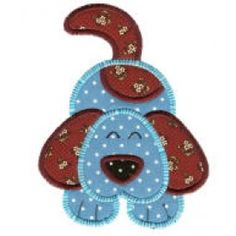 ZDBJJ500-8 Crazy Dogs Applique-Single
