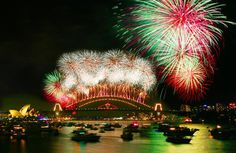 Sydney Harbor NYE Fireworks ! The most beautiful fireworks show i have ever seen .