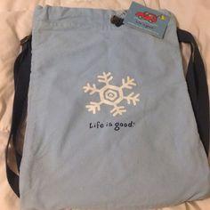 Back pack Life is good snowflake Life is Good Bags Backpacks
