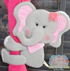 [IMG]........elefante sujeta cortinas Homemade Crafts, Easy Diy Crafts, Felt Diy, Felt Crafts, Elephant Template, Felt Animal Patterns, Baby Mobile, Cute Polymer Clay, Felt Fabric