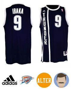 37995699bffe Honor your favorite NBA superstar in this Men s Adidas Oklahoma City  Thunder  9 Serge Ibaka