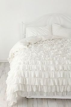 Love this, not sure if it'd be too girly for Jason, though...Waterfall Ruffle Duvet Cover