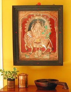 Thanjavur Oviyam or Tanjore Painting is one of my favourite Art of India. The rich gold, semi-precious stones decorated paintings of mostly ...