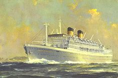 Johan van Oldenbarnevelt (the JVO). Dutch liner Sold to Greek interests in 1963 and renamed Lakonia. Eight months later a fire started on board in the beauty salon. 132 lives were lost. She sank while under tow to port. Dutch Colonial, Narrowboat, Nautical Art, Ship Art, Battleship, Travel Style, Sailing Ships, Illustrators, Indie