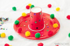 Cinco de Mayo crafts - Paper plate sombreros  @SheKnows #crafts #kids #cincodemayo