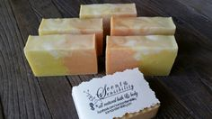 Tequila sunrise.  Loving the citrus scents in the soaps that I made recently.  Dont want summer to end! www.scentandsensibility.com or www.facebook.com/scentandsensibility