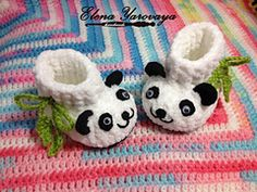 Ravelry: elena-dragon's baby Panda booties